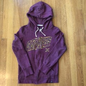 NWOT Minnesota Gophers Hurley Zip Up Hoodie Size S
